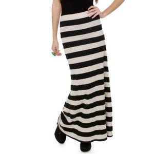 Billabong | striped maxi skirt size large